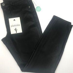 Stitch Fix Coated Black Skinny Jean with Spandex